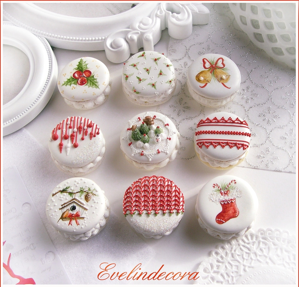 Christmas cookies that look like macarons