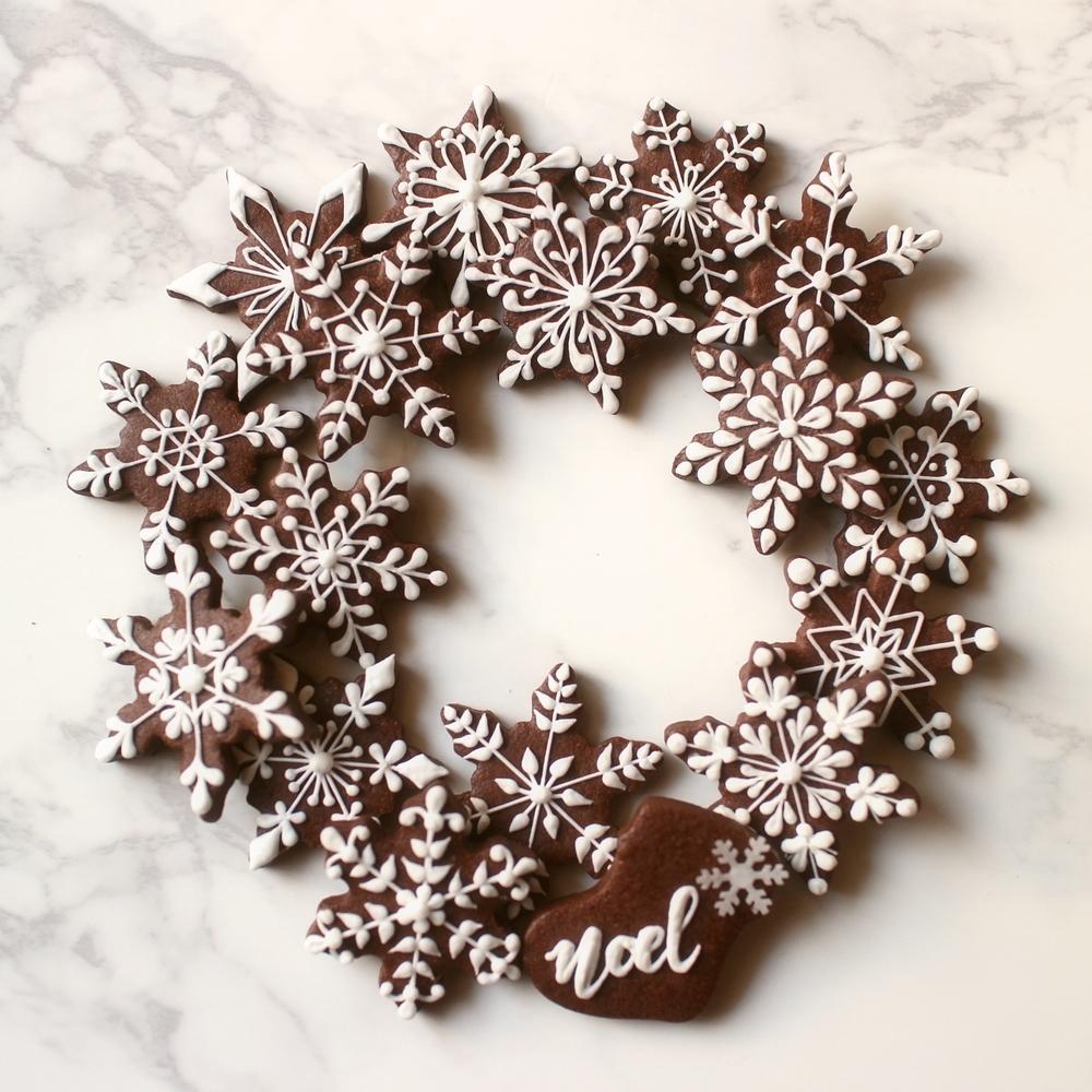 Snowflake Cookie Wreath