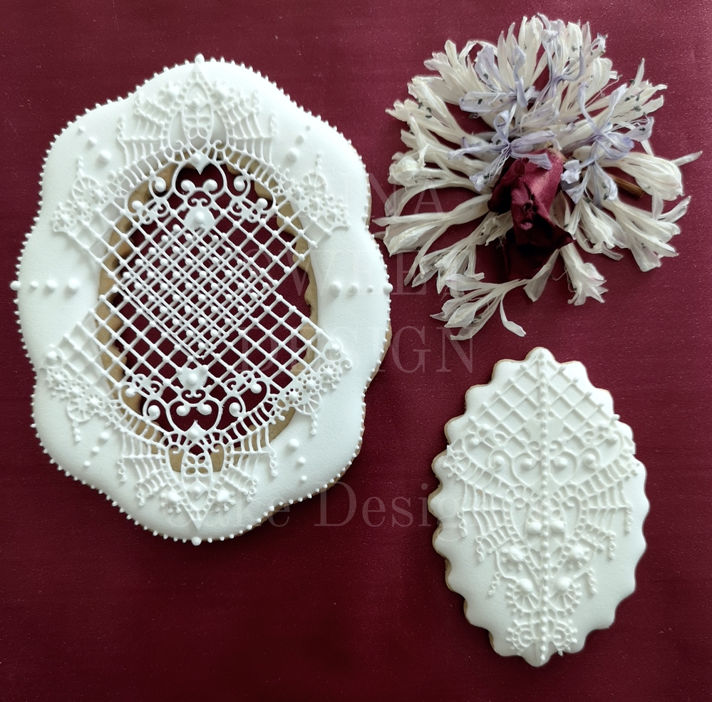 Sugar lace cookies