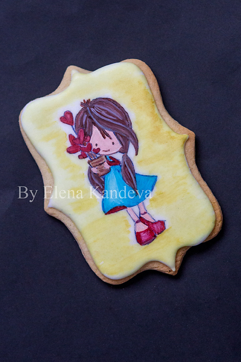 Girl with Hearts - Valentine's Day Cookies