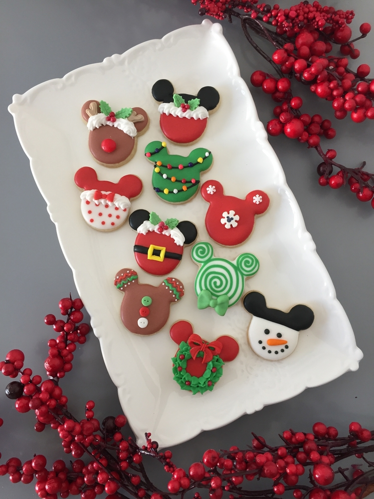 Mickey Mouse themed Christmas cookies