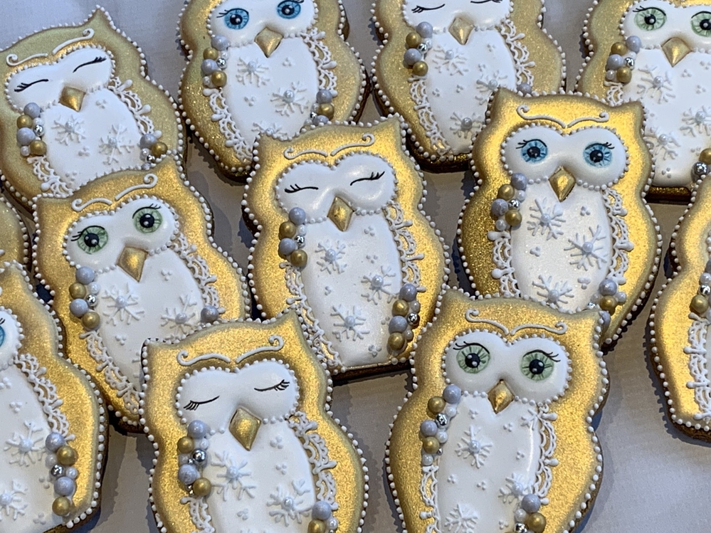 Christmas themed owls