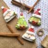 Happy Santa & Little Christmas Trees