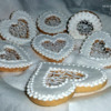 hearts and lace cookies