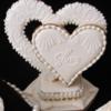 Close Up of 3D Hearts
