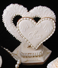 Close Up of 3D Hearts