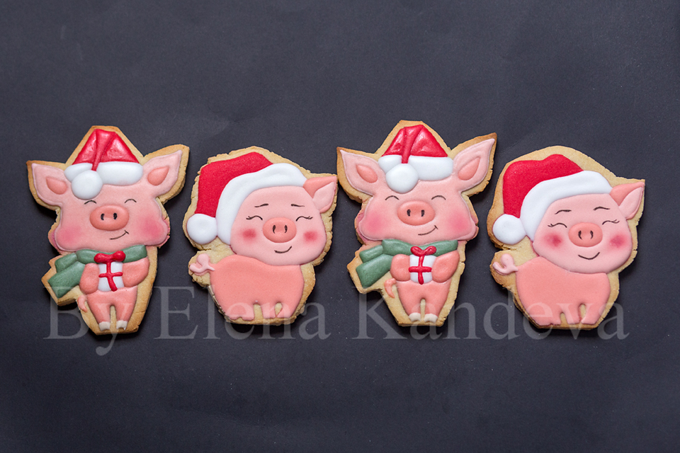 Christmas Pigs.Christmas Pigs Cookie Connection