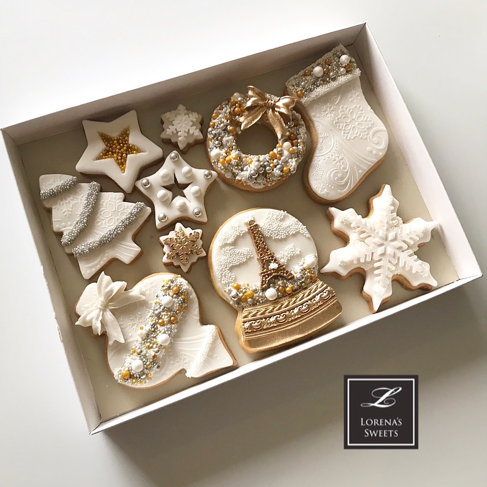 Lorena Rodríguez. White Christmas cookies