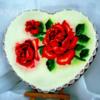 Walentynkowe serce z różami