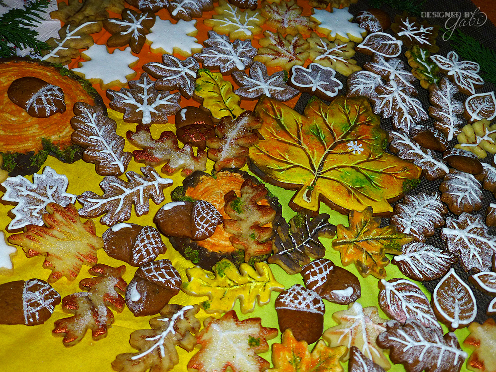 Frosted Leaves and Christmas Cookies
