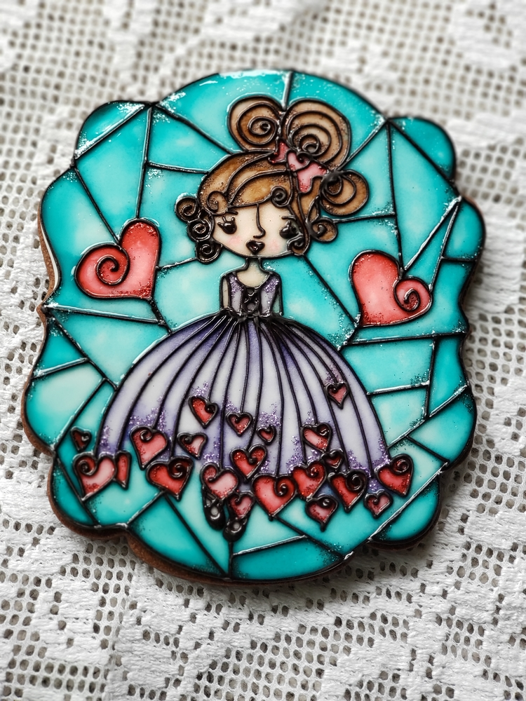 Stained glass ballerina