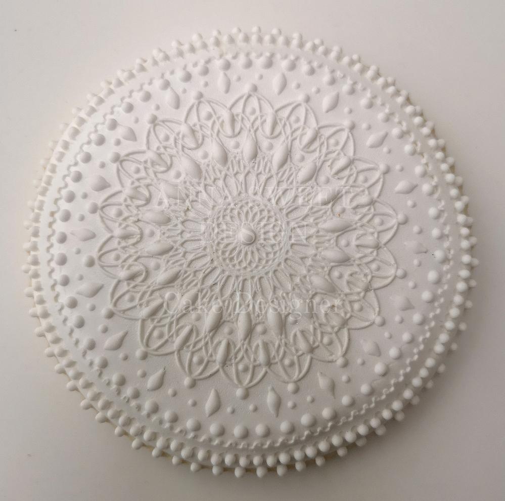 White Mandala Cookie