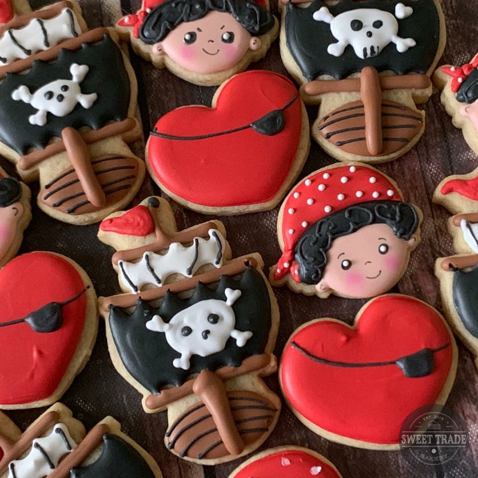 Pirate birthday cookies
