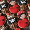 Pirate birthday cookies