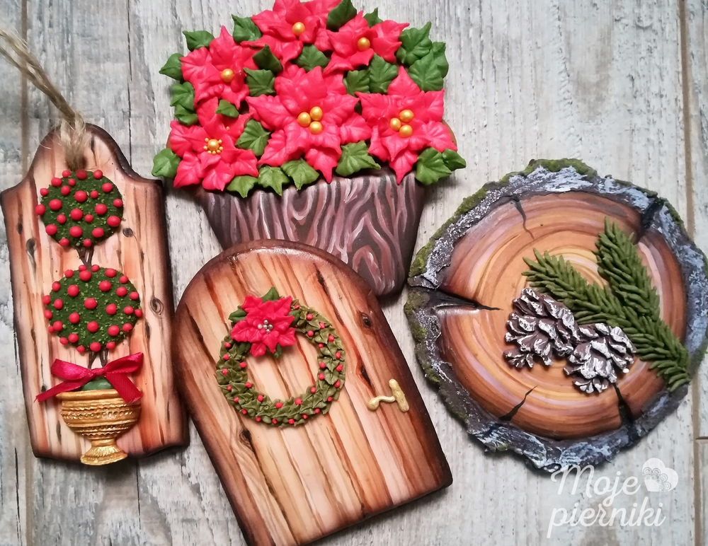 Wooden gingerbreads