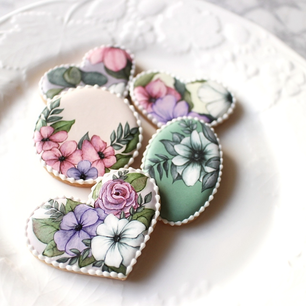 Flower Print Cookies
