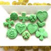 Irish Clover Celtic Knot Green Cookies by Gretchen Thomas