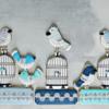 Winter Blues Zentangle Birds | Bakerloo Station