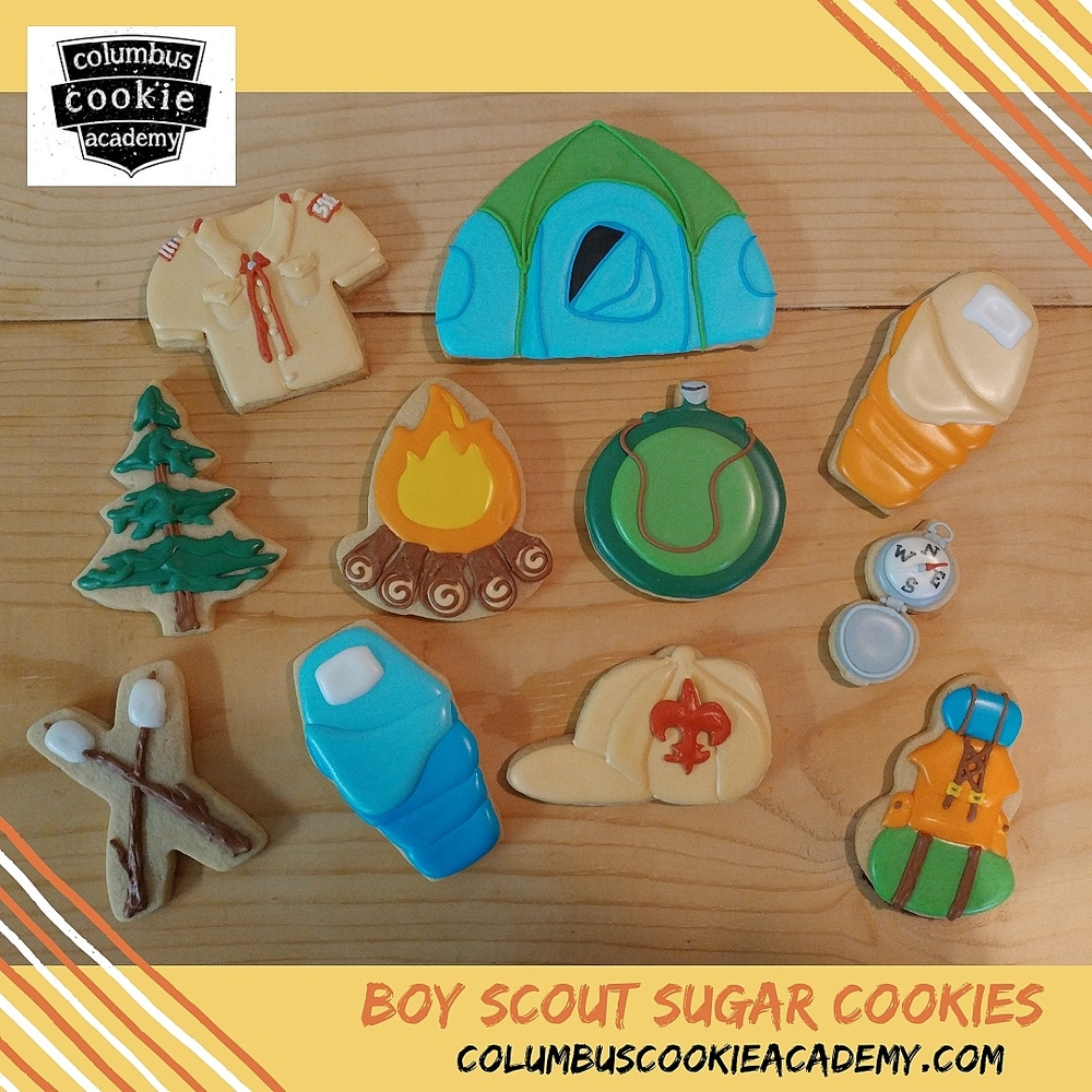 Boy scout camping cookies