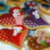 Patchwork pattern hearts