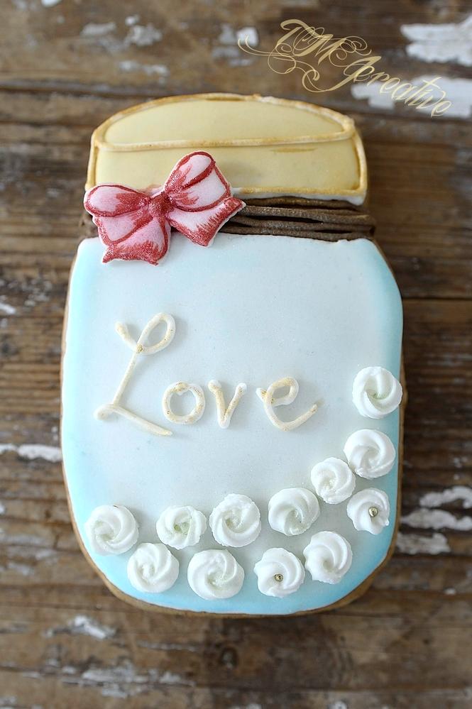 LOVE mason jar by TMJcreative