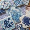Portuguese tile cookies