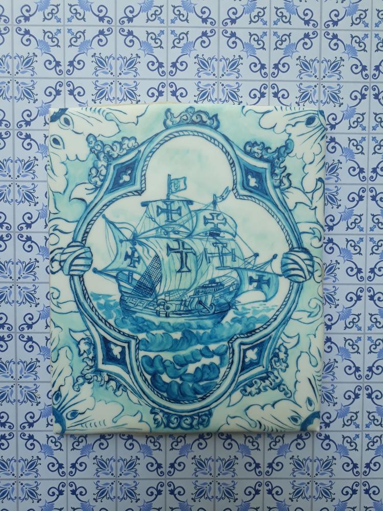 Portuguese painted Tile reproduction
