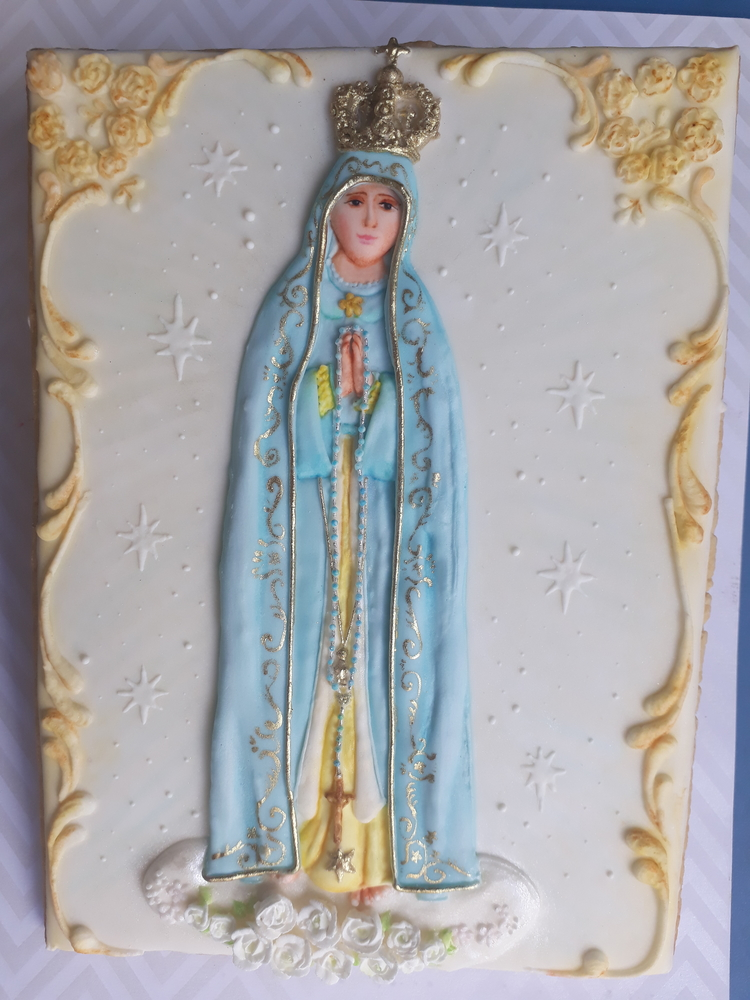 Our Lady of Fatima Cookie