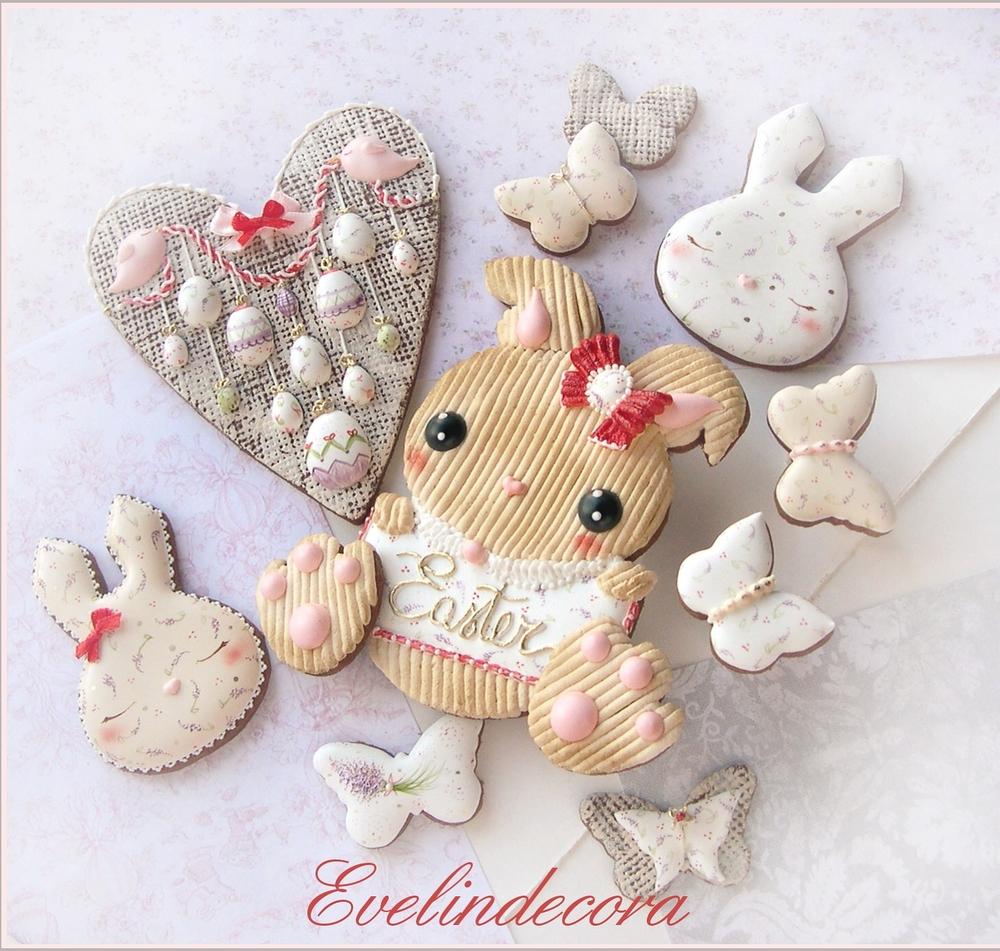 Corduroy Easter Bunny Cookies