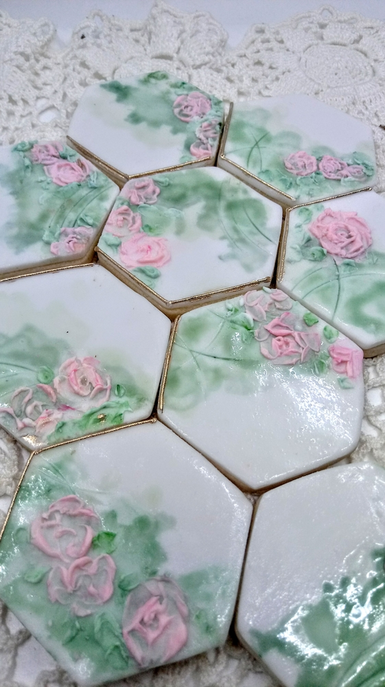Hexagons with Roses
