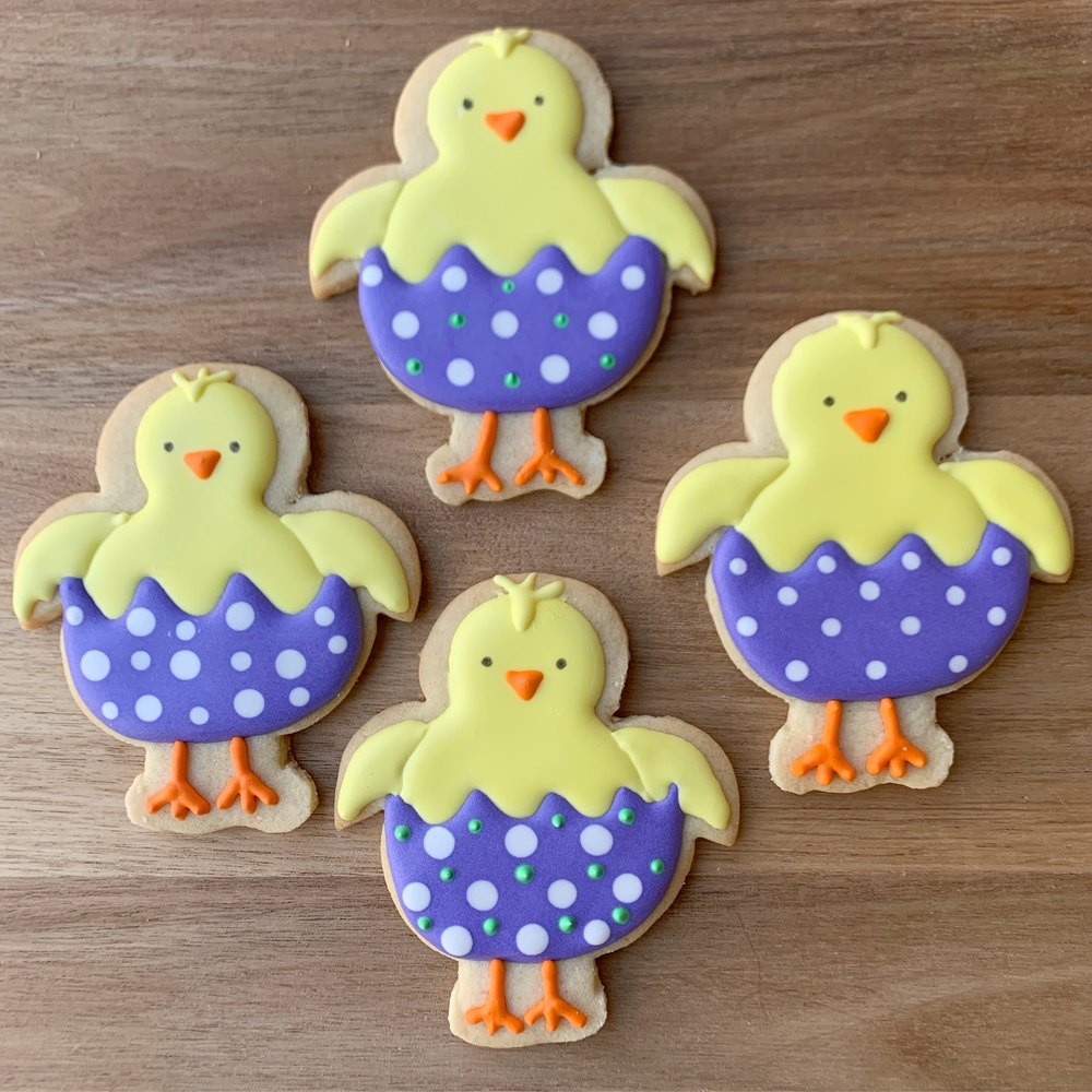 Chick in Egg Easter Cookies