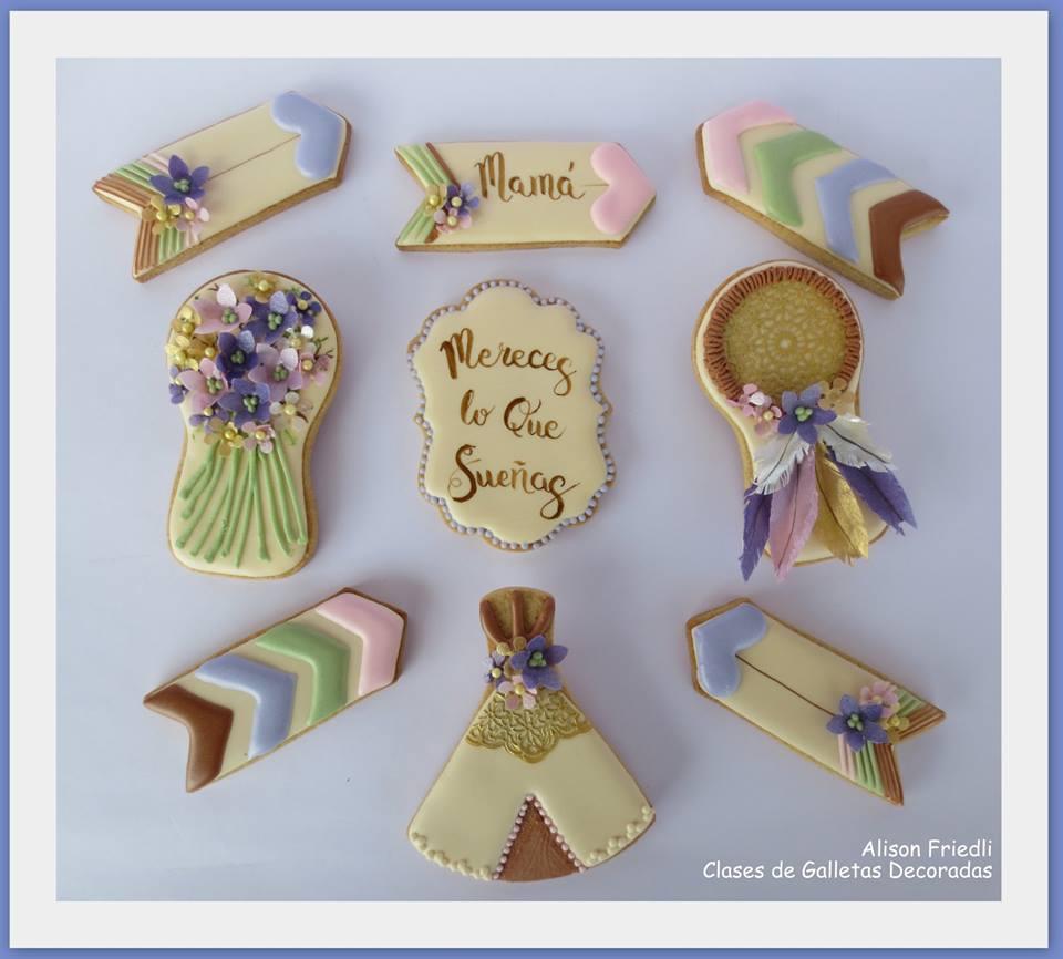 Boho Chic Cookies for Mum