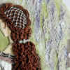 Flower Falls: Renaissance pearl snood hair net