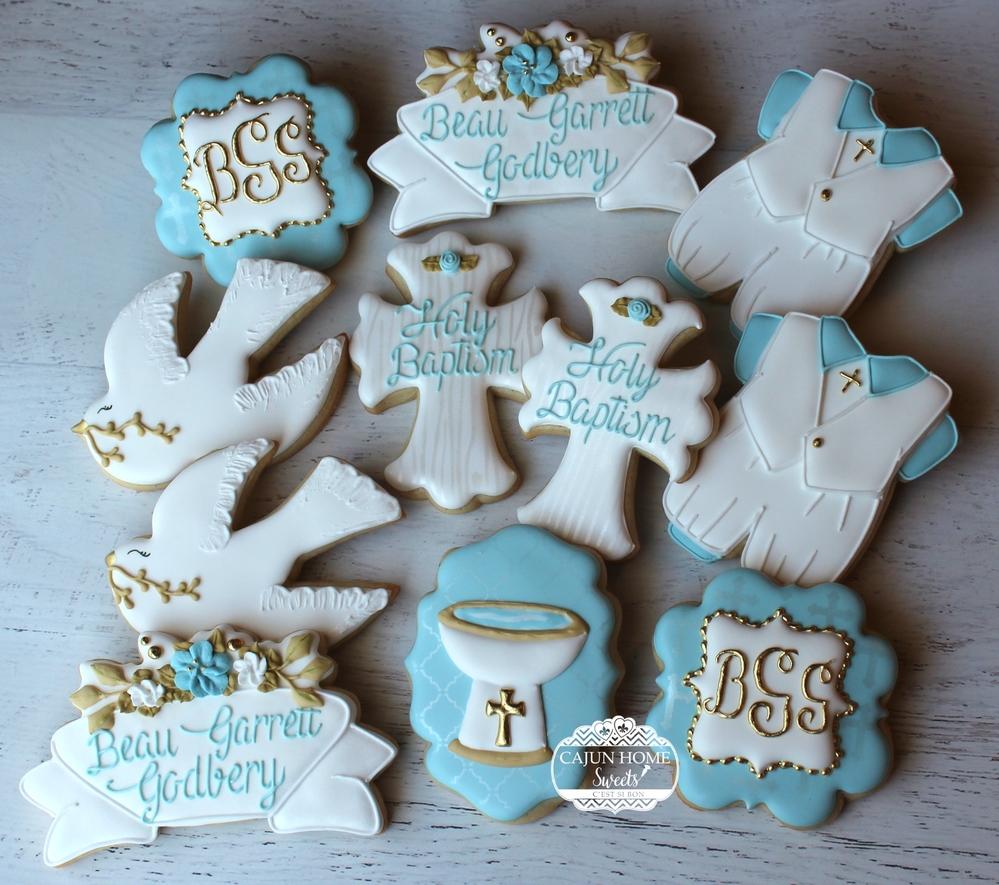 Boy Baptism/Christening Cookies