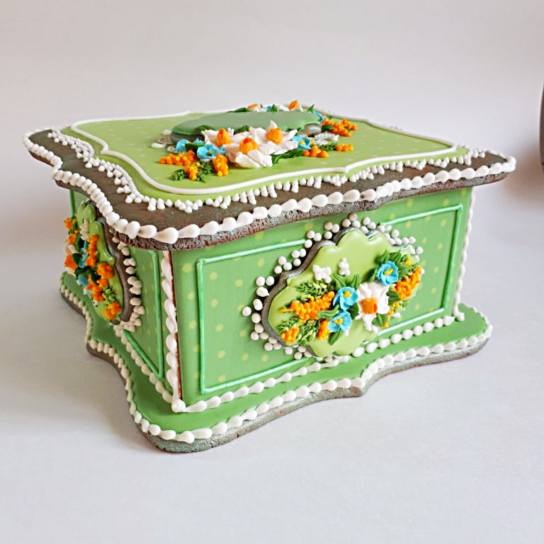 Green Cookie Box