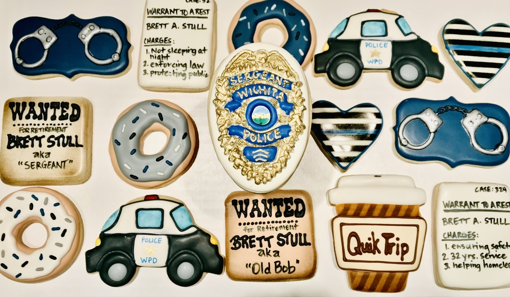 Police Retirement Cookies