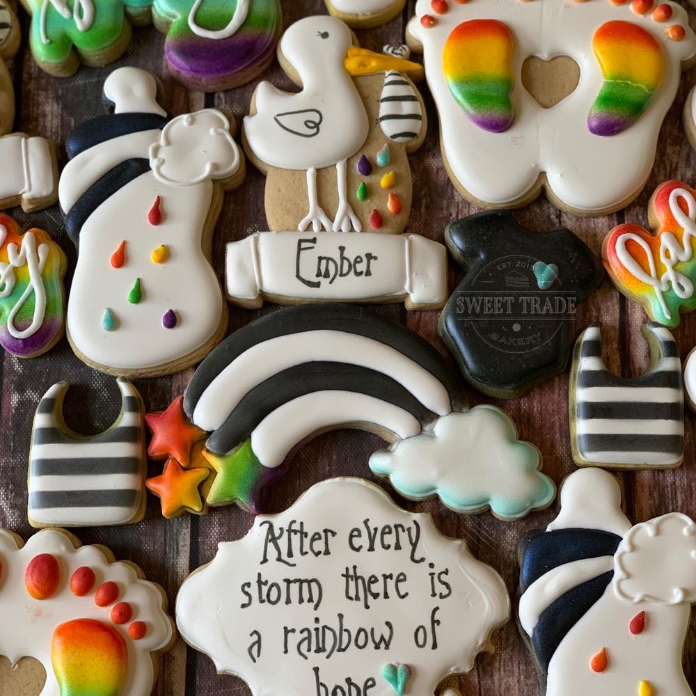 Rainbow Baby Cookies