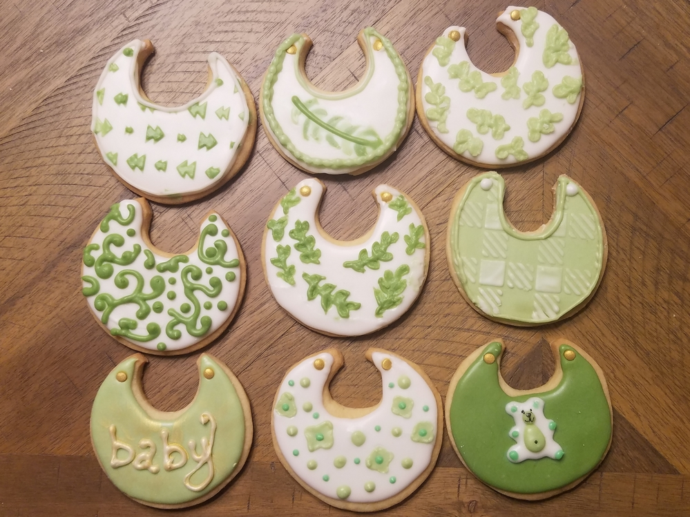 Baby Bibs for Botanical-themed Shower