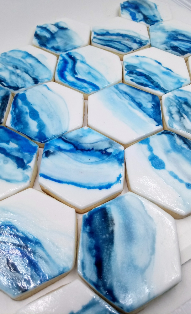 Blue Hexagon Tiles