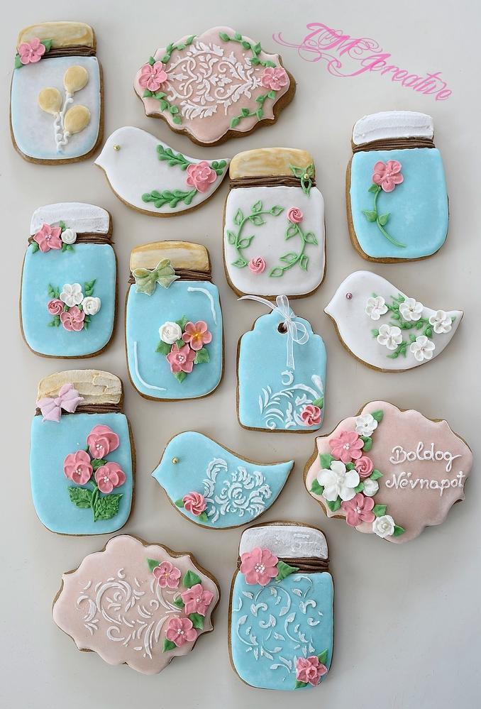 Floral spring cookies by TMJcreative