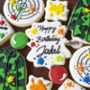Paintball Birthday Cookies