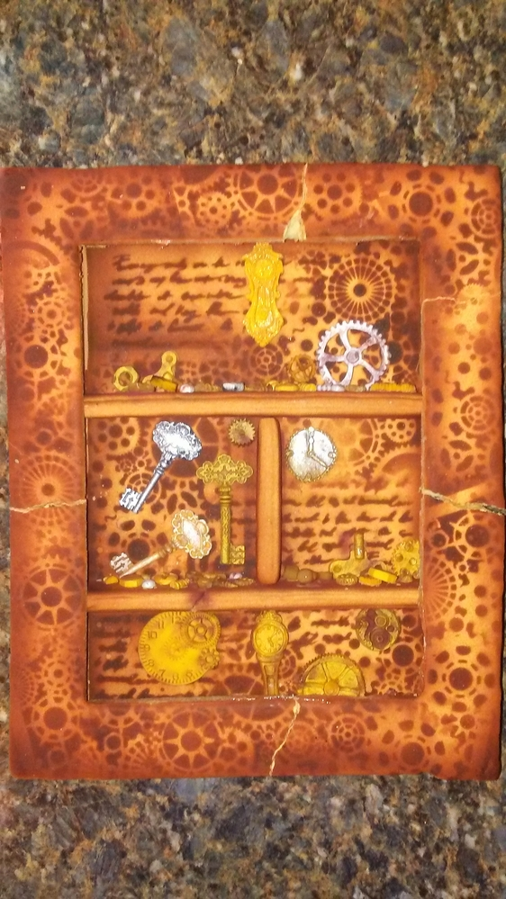 Steampunk Shadow Box