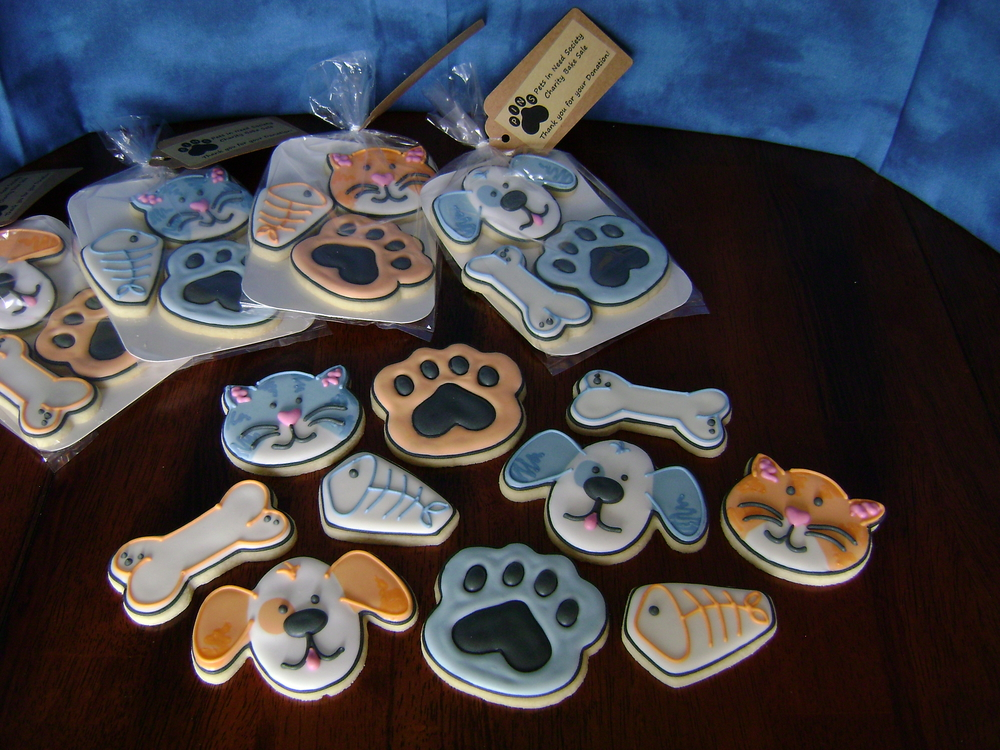 PINS Cookie Pkgs - 'Pets In Need Society' charity bake sale