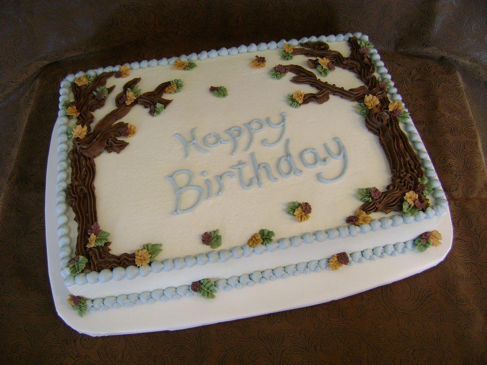Autumn Tree Birthday Sheet Cake