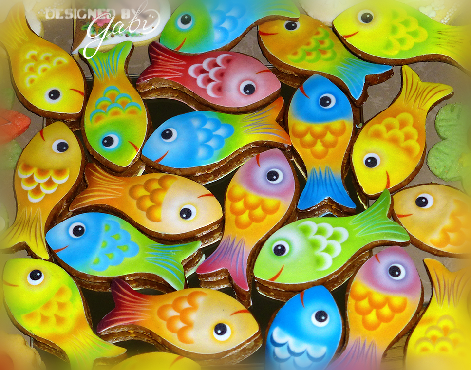 Little funny colorful fishes