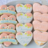 Wedding cookies set in blush pastel colors