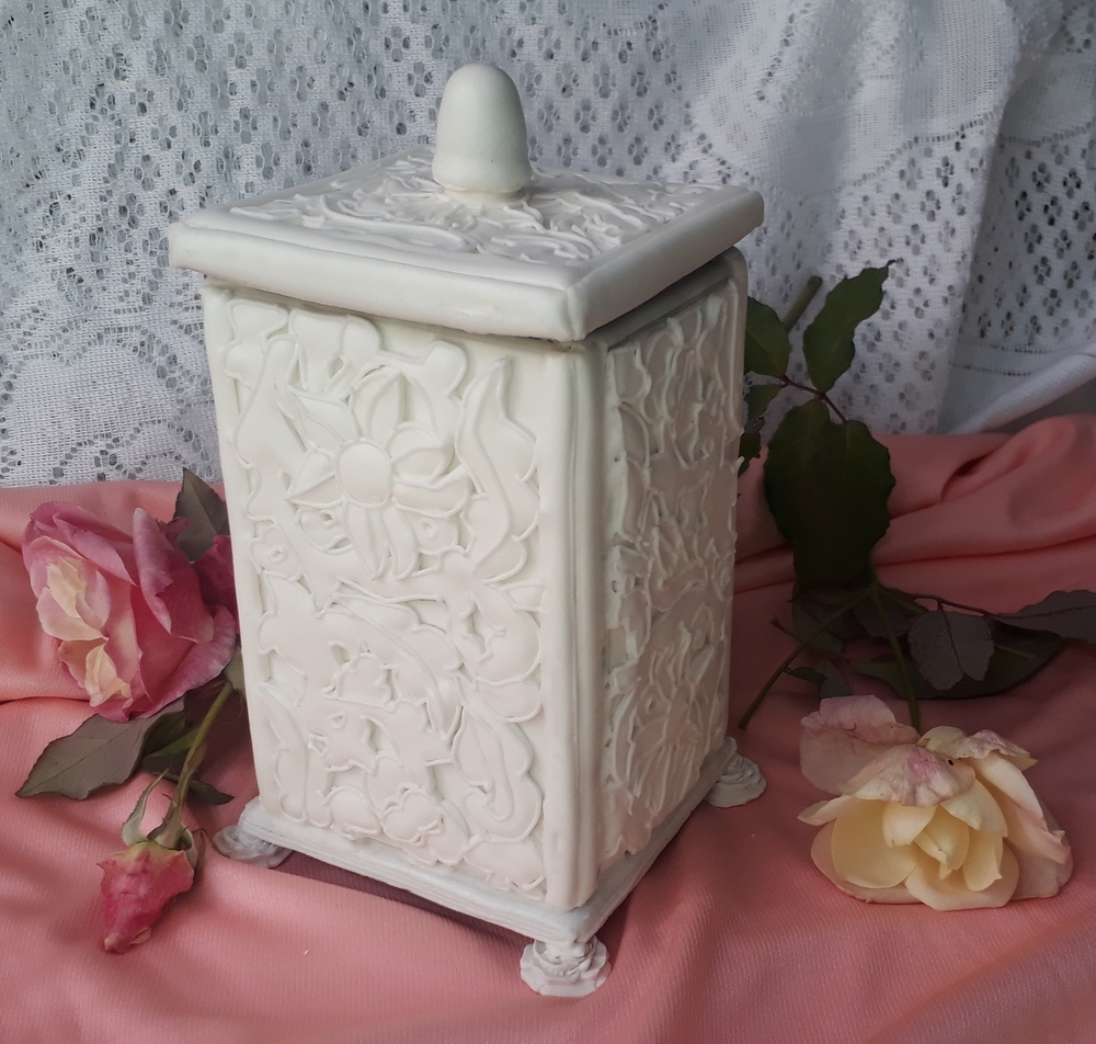 Classic All-White Jewelry Box