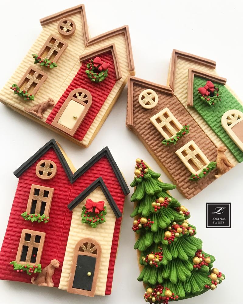 Lorena Rodríguez. Christmas Village Cookies