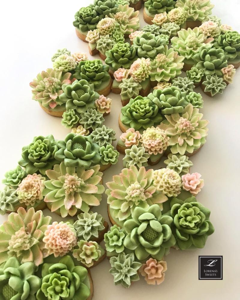 Lorena Rodríguez. Succulent garden cookies