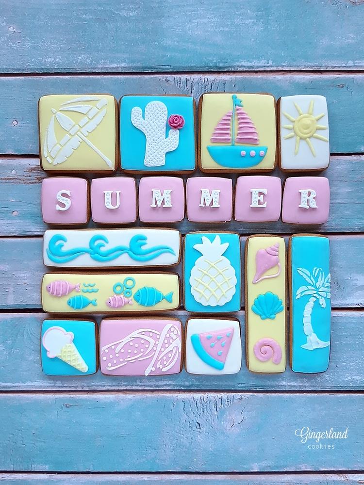 Summer Cookie Collage